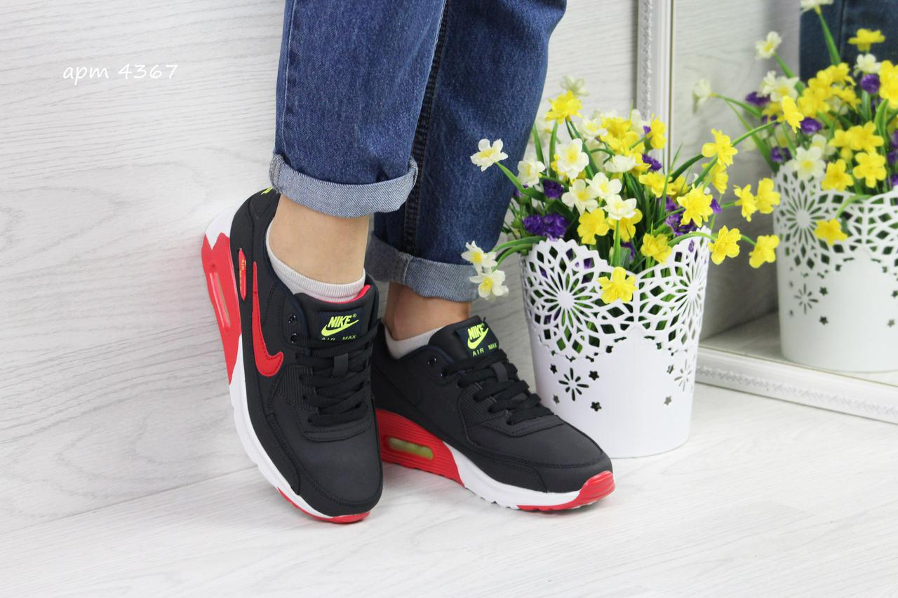 37217df0 Женские кроссовки Nike Air Max 90, цвет — синий + красный - Tornado в Киеве
