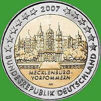 Германия 2 евро 2007 г. Мекленбург-Передняя Померания . UNC