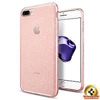 Чехол Spigen для iPhone 7Plus Liquid Crystal Glitter, Rose Quartz, фото 1