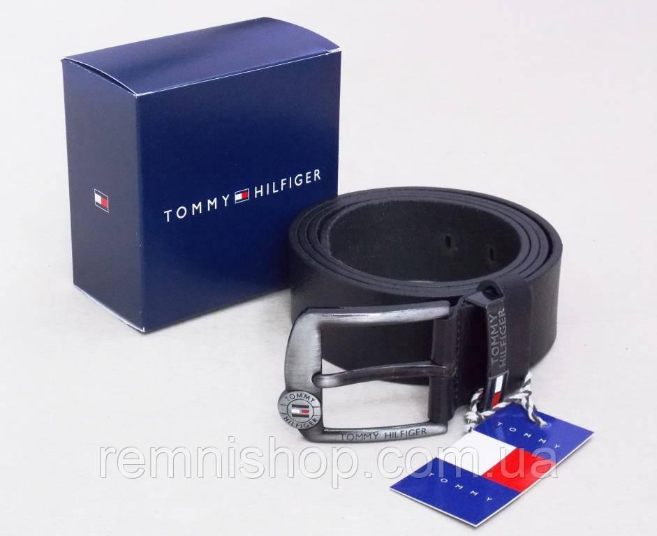 Мужской кожаный ремень для джинс TOMMY HILFIGER