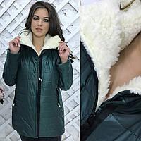 """Зимняя куртка """"Polaris"""" + 3 новых цвета 48, зеленый"""