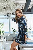 """Короткое шифоновое платье в цветочек """"RITA"""" с оборками (2 цвета), фото 3"""