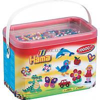 Набор для творчества HAMA цветные бусины, 10.000 шт., 10 цветов (202-00)