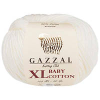 Пряжа GAZZAL Baby cotton XL 3410 (Газзал Беби Котон XL) белый