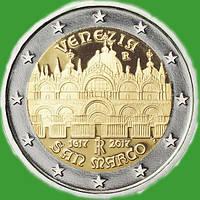 Италия 2 евро 2017 г. Собор Святого Марка в Венеции . UNC