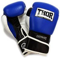 Перчатки боксерские Thor - Ultimate 551/03 B/B/W (10 унций) (кожа), фото 1