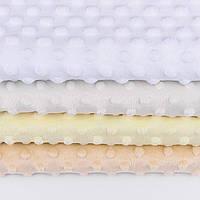 Набор отрезов плюша minky: кремовый, молочный(слоновая кость), белый, бежевый  (50*50)