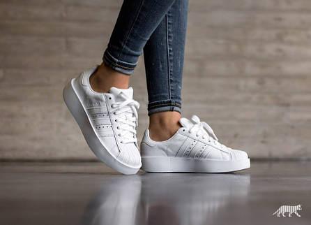 6a804a6ed4ee Кроссовки Adidas Superstar Bold W (Ftwr White/Ftwr White/Core Black