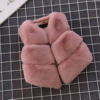 Меховая жилетка для девочек 1-5  лет , фото 1