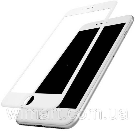 Защитное противоударное стекло Baseus 0.23 PET Soft 3D (SGAPIPH8N-PE02) IPhone 8/7 White