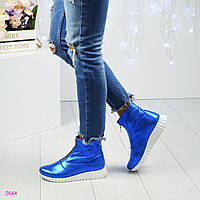 "Ботинки женские кожаные   "" Стайл""  электирик"