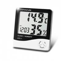 Комнатный измеритель температуры и влажности HTC-1 с часами  dc
