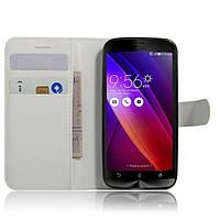 Чехол для Asus Zenfone Go ZB452KG / ZB450KL  X014D книжка кожа PU белый