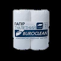 Туалетная бумага Buroclean 2слоя, 4рул. белая