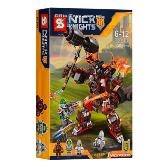 Конструктор SY 573 Nexo Knights Нексо Найтс Робот крушитель Молтора 450 дет, фото 1