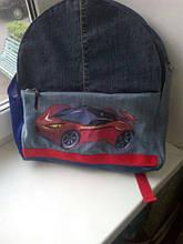 Детский джинсовый городской рюкзак