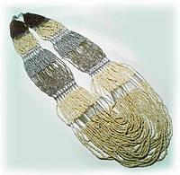 Колье длинное , в  подарок для женщины  - из бисера