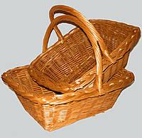 Набор плетеных корзин из 2 шт