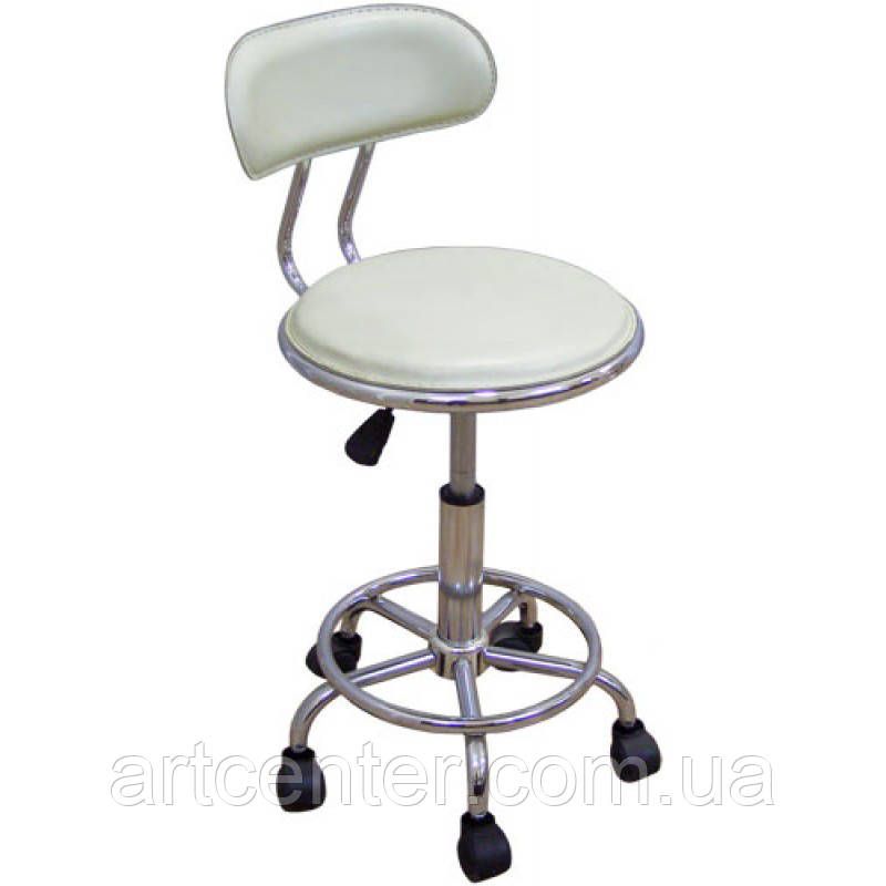 Кресло для мастера, кресло для кассира, кресло белое  (БЭЙСИК белый)