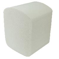 Туалетная бумага листовая Buroclean 2слоя 150шт белая