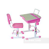 Растущая парта и стул, школьная парта-трансформер FunDesk Capri, розовая, фото 1