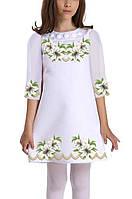 Заготовка дитячого плаття чи сукні для вишивки та вишивання бісером Бисерок  «Ніжні лілії 048» 30997bfa8b2cb