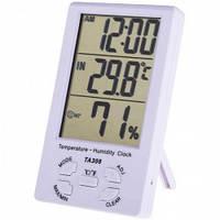 Комнатный измеритель температуры и влажности TA308 с часами   dc