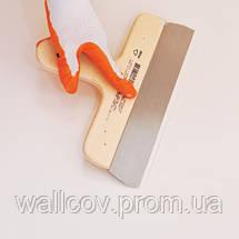 Шпатель из нержавеющей стали с деревянной ручкой 500 мм, фото 3