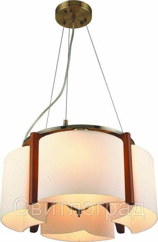 Светильник Подвесной Деревянный    Altalusse INL-3091Р-04 Antique Brass & Walnut