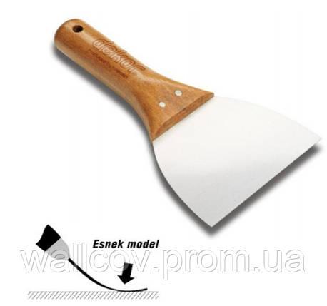 Шпатель soft grip  н\ж с деревянной ручкой 120 мм Decor Hassan, фото 2