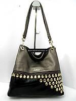 Красивая женская сумка комбинированная разных цветов