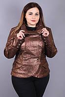 """Куртка """"Диор блеск"""" р. 42-52 коричневый"""