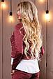 Красивый стильный женский свитшот-кофта 2499 марсала, фото 4