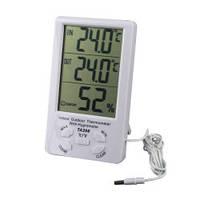 Измеритель температуры и влажности TA298 с часами   dc