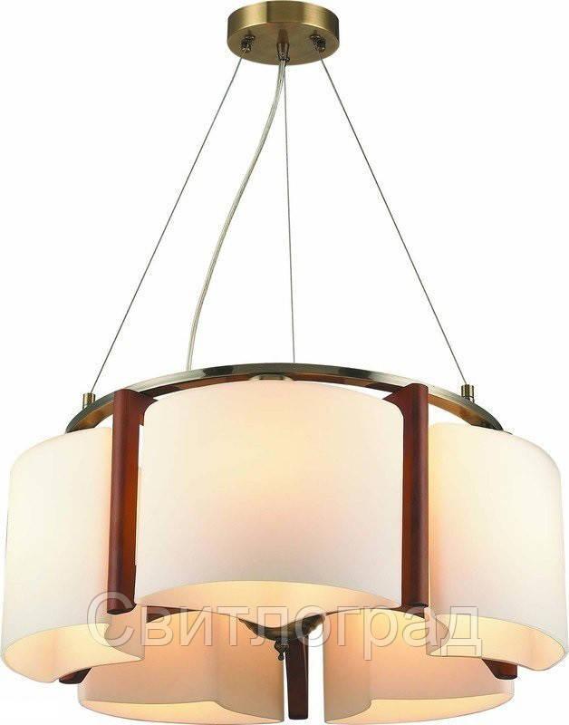 Светильник Подвесной Деревянный    Altalusse INL-3091Р-05 Antique Brass & Walnut