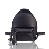 Рюкзак кожаный черный