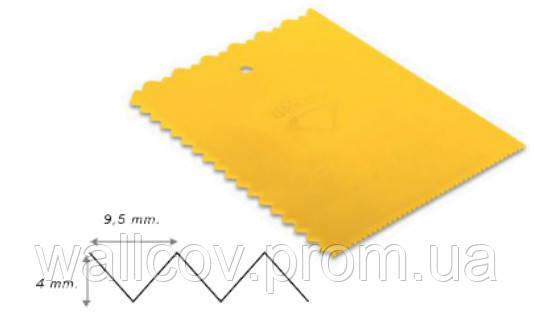 Гребень пластиковый с треугольными зубцами 180х135 мм Decor Hassan