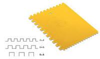 Гребень пластиковый с квадратными зубцами 180х135 мм Decor Hassan