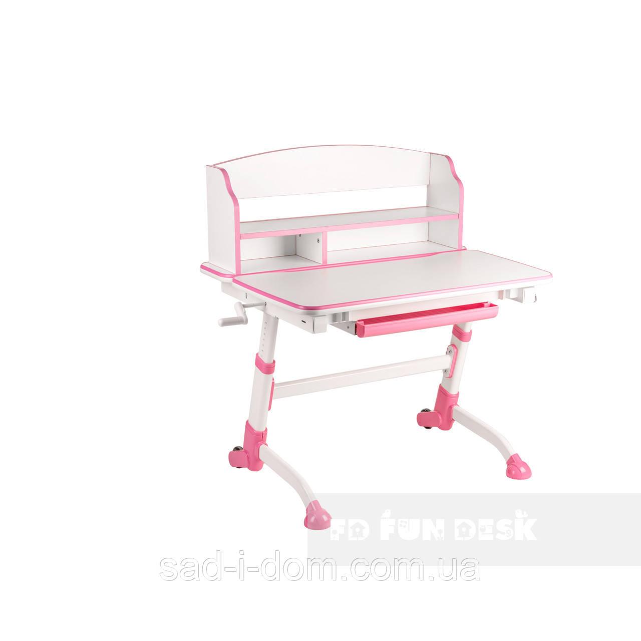 Растущая парта для школьника FunDesk Volare II, розовая