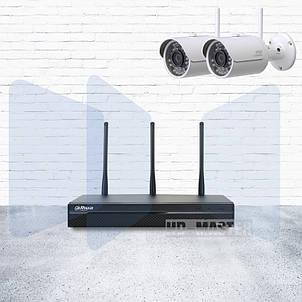 Комплект видеонаблюдения IP W-Fi Dahua KIT-IP43-2B-W, фото 2