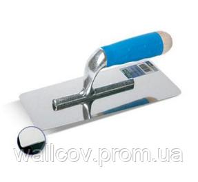"""Кельма """"Inox"""" с резиновой ручкой для  венецианской штукатурки 240х100. Boldrini, фото 2"""