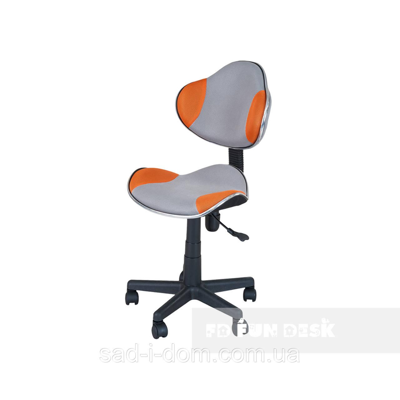 Детское ортопедическое кресло FunDesk LST3,серо-оранжевое
