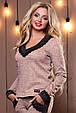 Стильный женский свитшот-кофта 2498 персиковый, фото 3