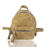 Рюкзак кожаный хаки, фото 1