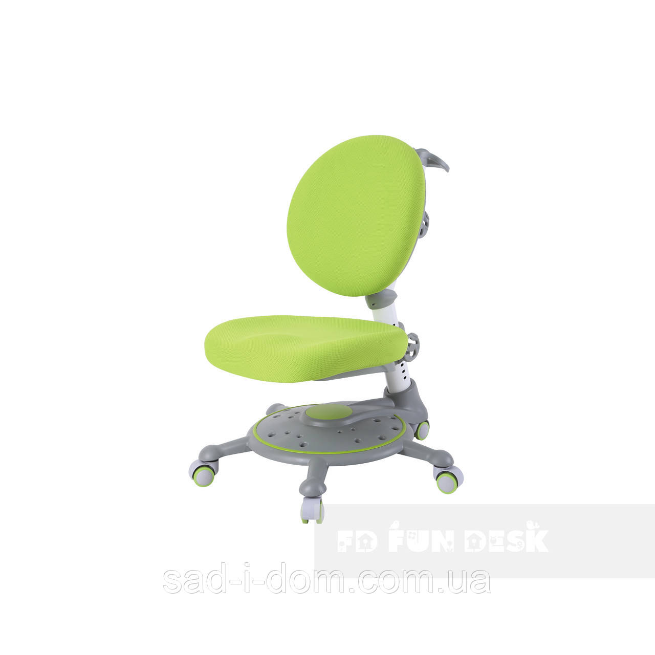 Детское компьютерное ортопедическое креслоFunDesk SST1, зеленый