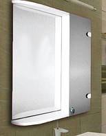 Зеркало с шкафчиком для ванной комнаты 535х640 мм ШК844