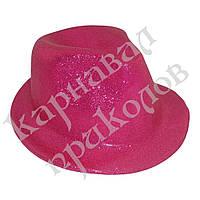 Шляпа детская Мафия блестящая (малиновая)