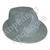 Шляпа детская Мафия блестящая (серебро)
