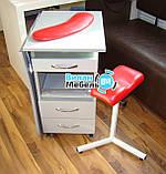 Маникюрный стол складной с БК лампой на роликах+тринога+подкова, фото 3