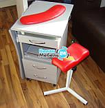 Маникюрный стол складной с БК лампой на роликах+тринога+подкова, фото 2
